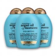 Kit com 3 Shampoos OGX Argan Oil of Morroco 385ml