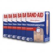 Kit com 6 Curativos BAND AID Regular com 40 unidades