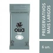 Preservativo OLLA Lubrificado Large 6 unidades - CX c/ 24
