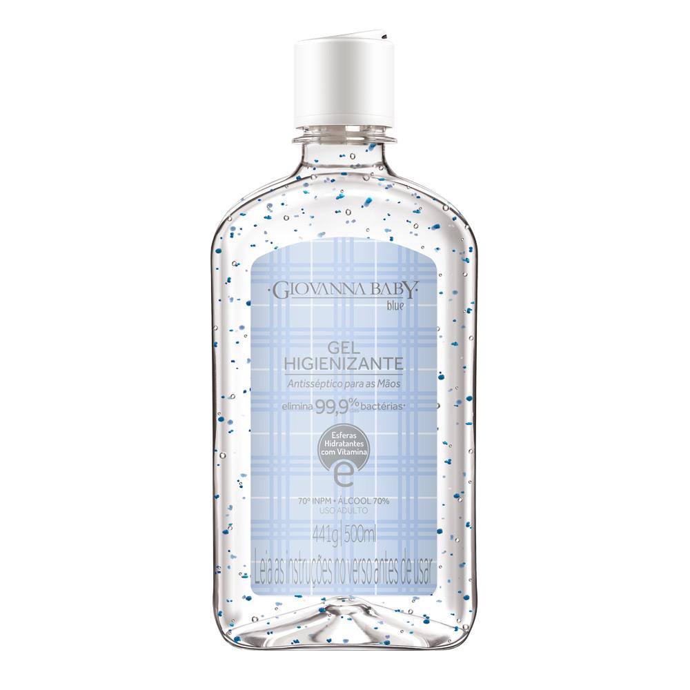 Álcool em Gel Higienizante Blue 500 ml - CX c/ 6