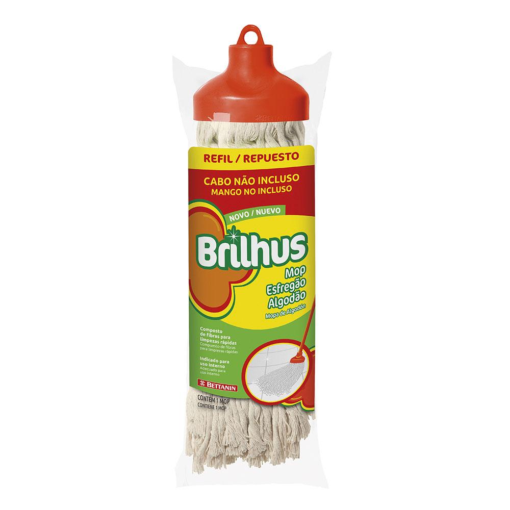 Brilhus Mop Esfregão Algodão Refil - CX c/ 12