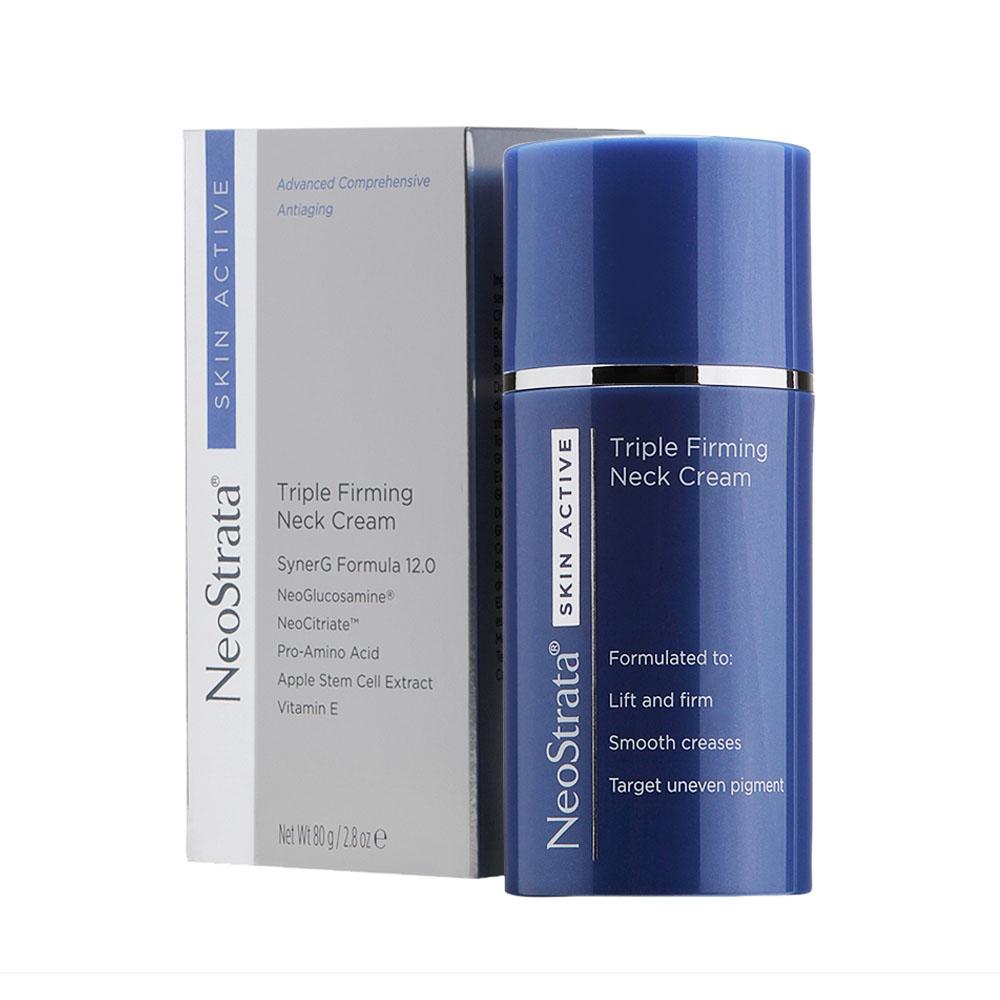Creme Antissinais para Pescoço e Colo Neostrata Skin Active Triple Firming Neck Cream 80g - CX c/ 6