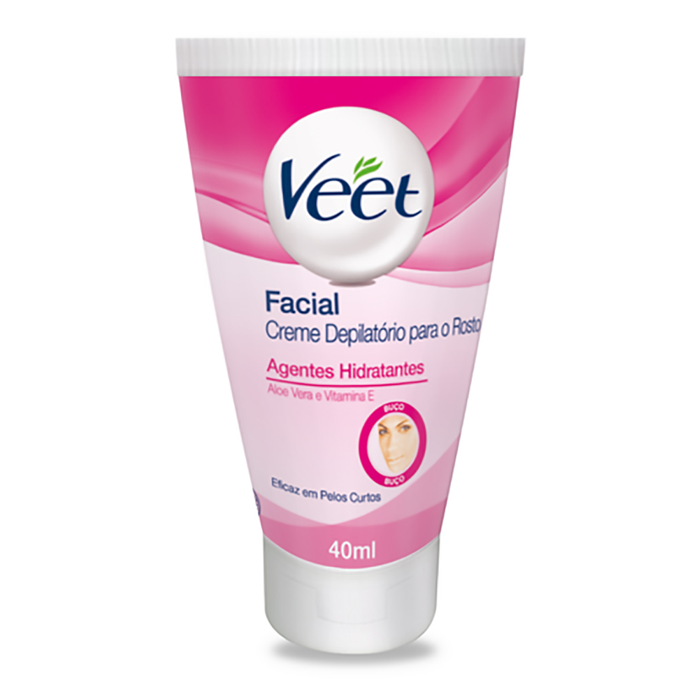 Creme Depilatório VEET Facial 40ml - CX c/ 12