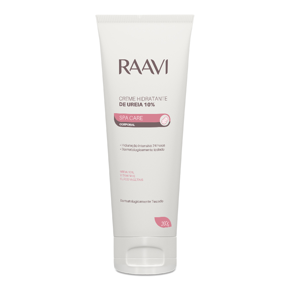 Creme Hidratante Ureia 10% Raavi 200g - CX c/ 6