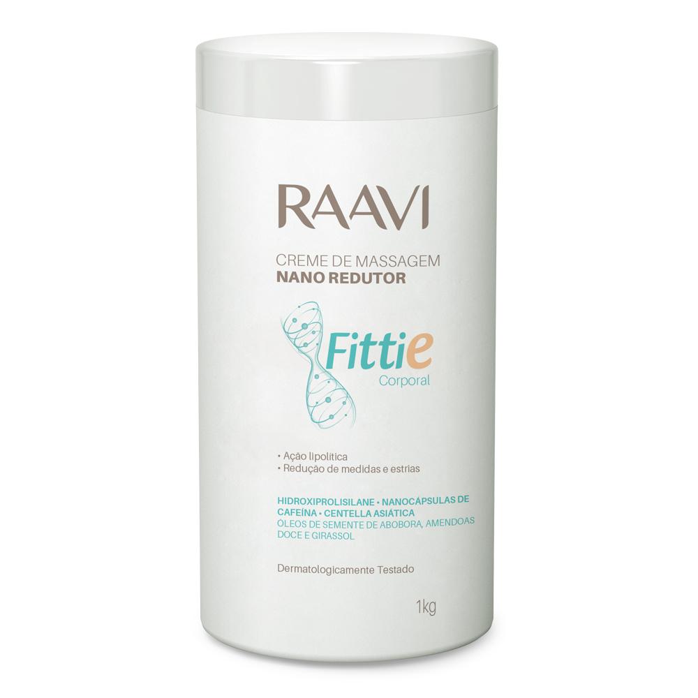 Creme Nano Redutor Fittie Raavi 1kg - CX c/ 6