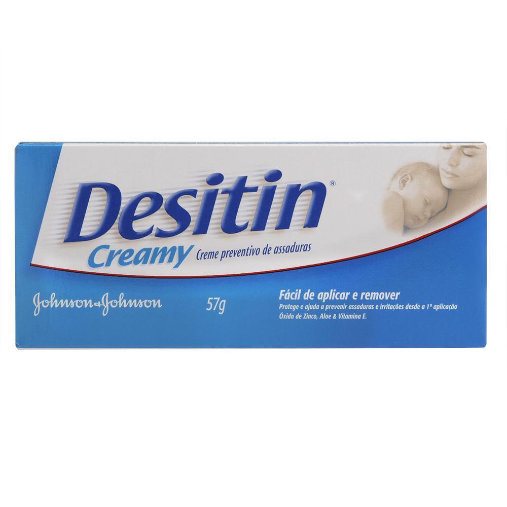 Creme preventivo de assaduras DESITIN Creamy Aloe 57g - CX c/ 12