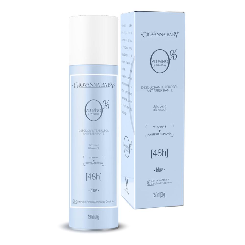 Desodorante Aerosol Giovanna Baby 0% Aluminio Blue 150ml  - CX c/ 12