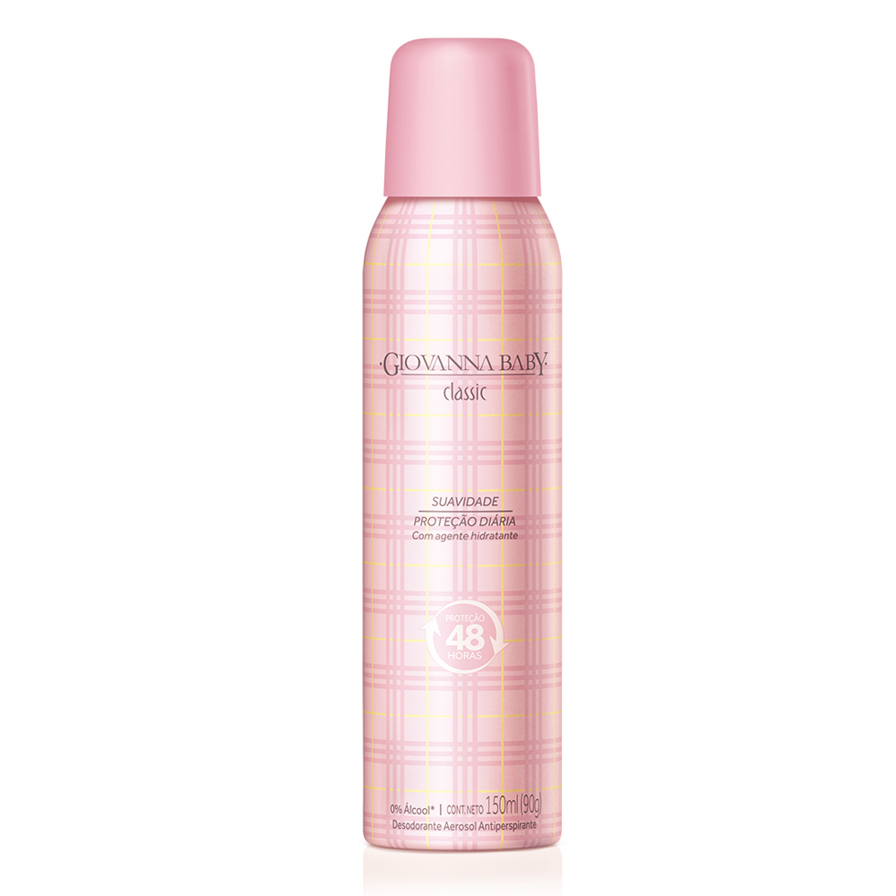 Desodorante Aerossol Giovanna Baby Classic 150 ml - CX c/ 12