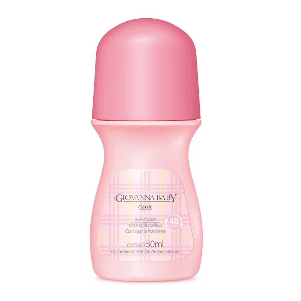 Desodorante Rollon Giovanna Baby Classic 50ml - CX c/ 12
