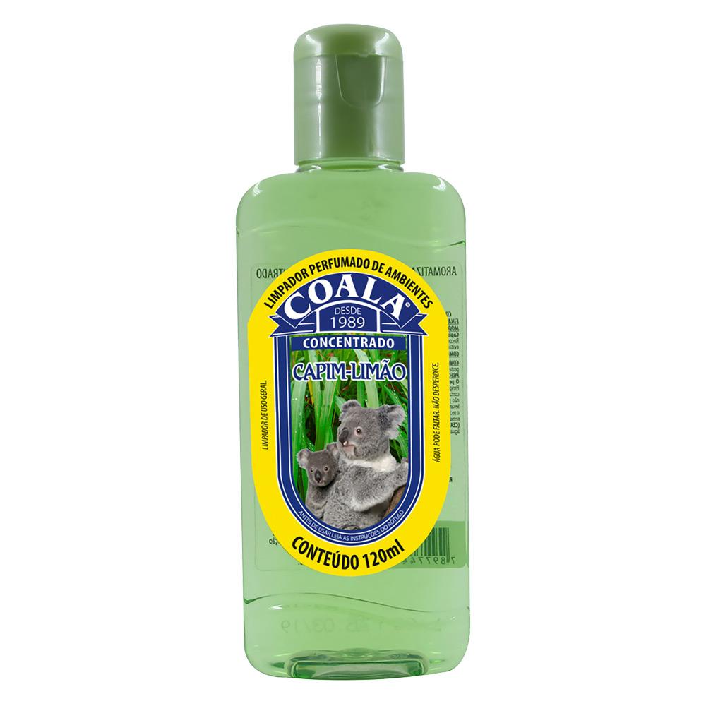 Essência para Limpeza Concentrada Coala 120ml Capim Limão - CX c/ 24