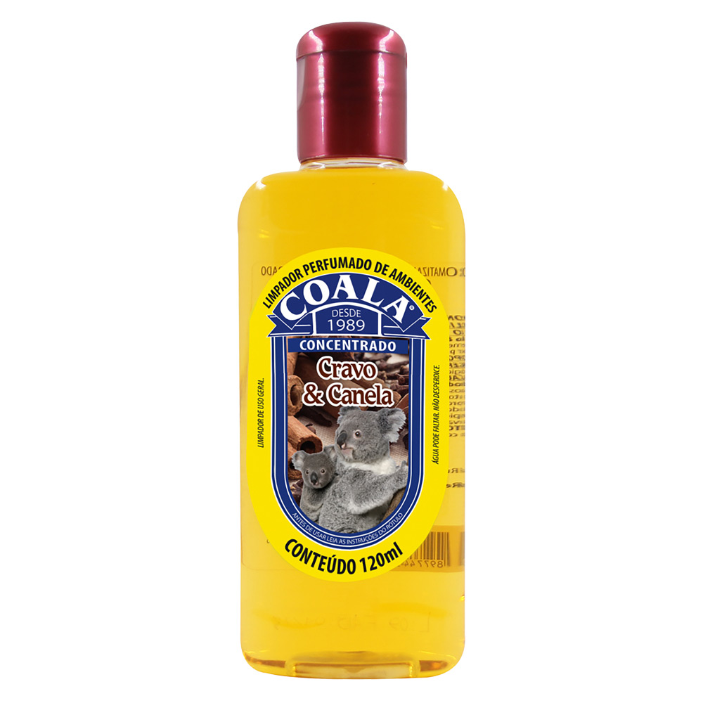 Essência para Limpeza Concentrada Coala 120ml Cravo e Canela - CX c/ 24