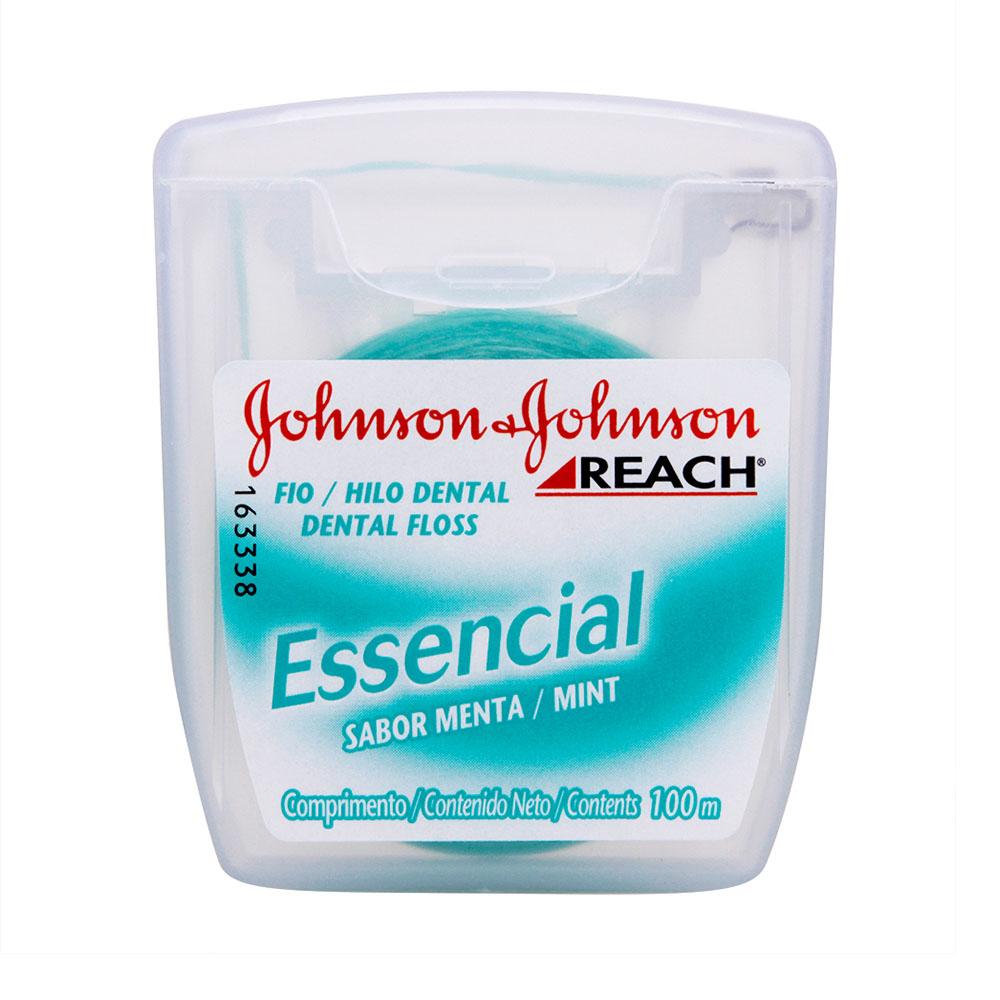 Fio Dental REACH Johnson's Essencial 100m - CX c/ 48