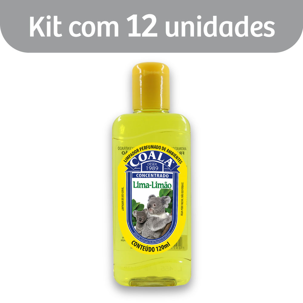 Kit c/ 12 Essência p/ Limpeza Concentrada Coala 120ml Limão