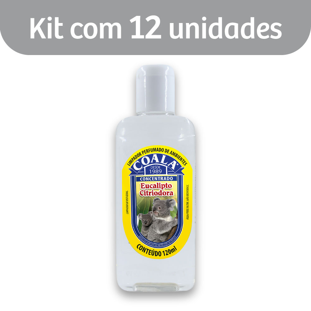 Kit c/ 12 Essência p/ Limpeza Concentrada Coala Eucalipto