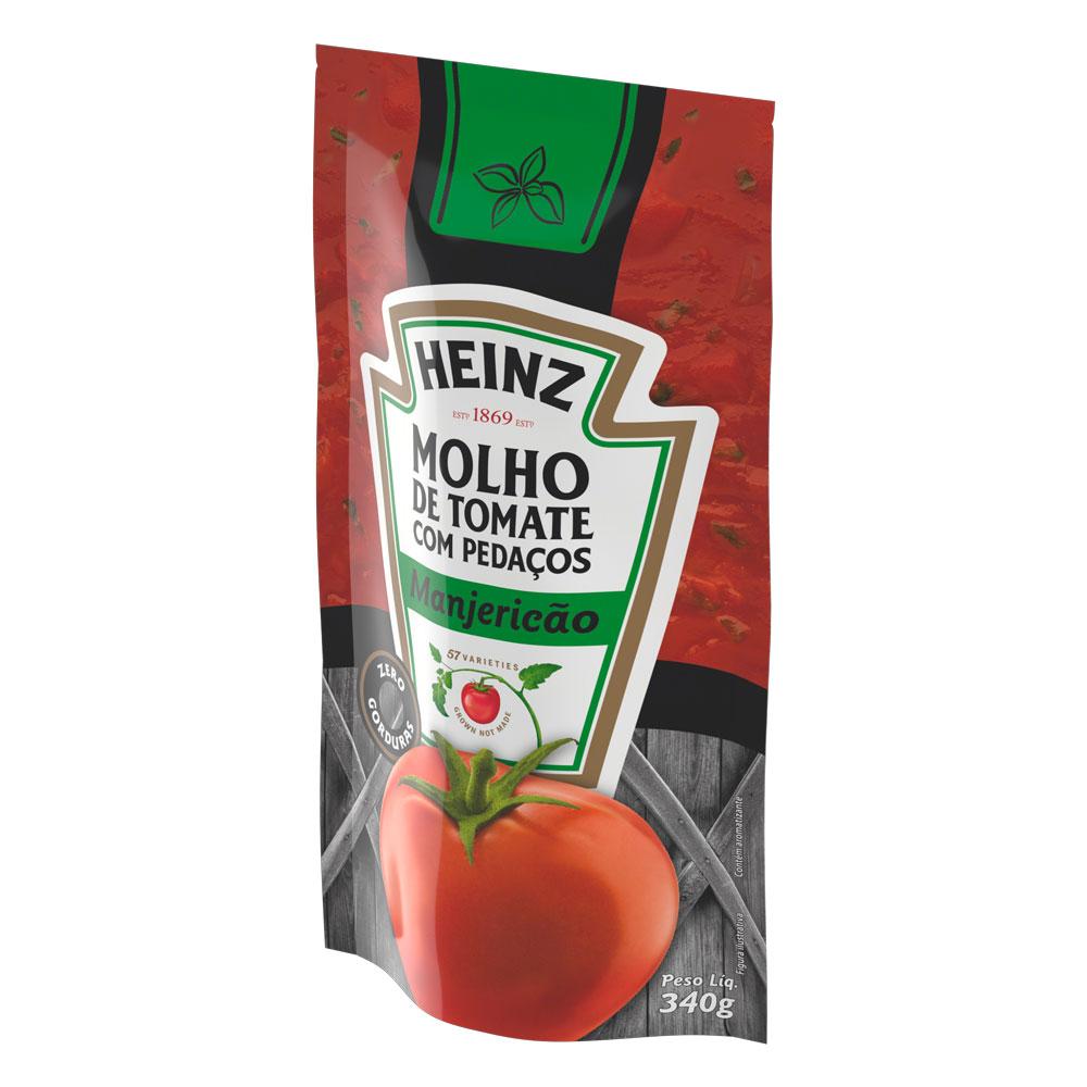 Kit c/ 12 Molho De Tomate Heinz Manjericao 340g
