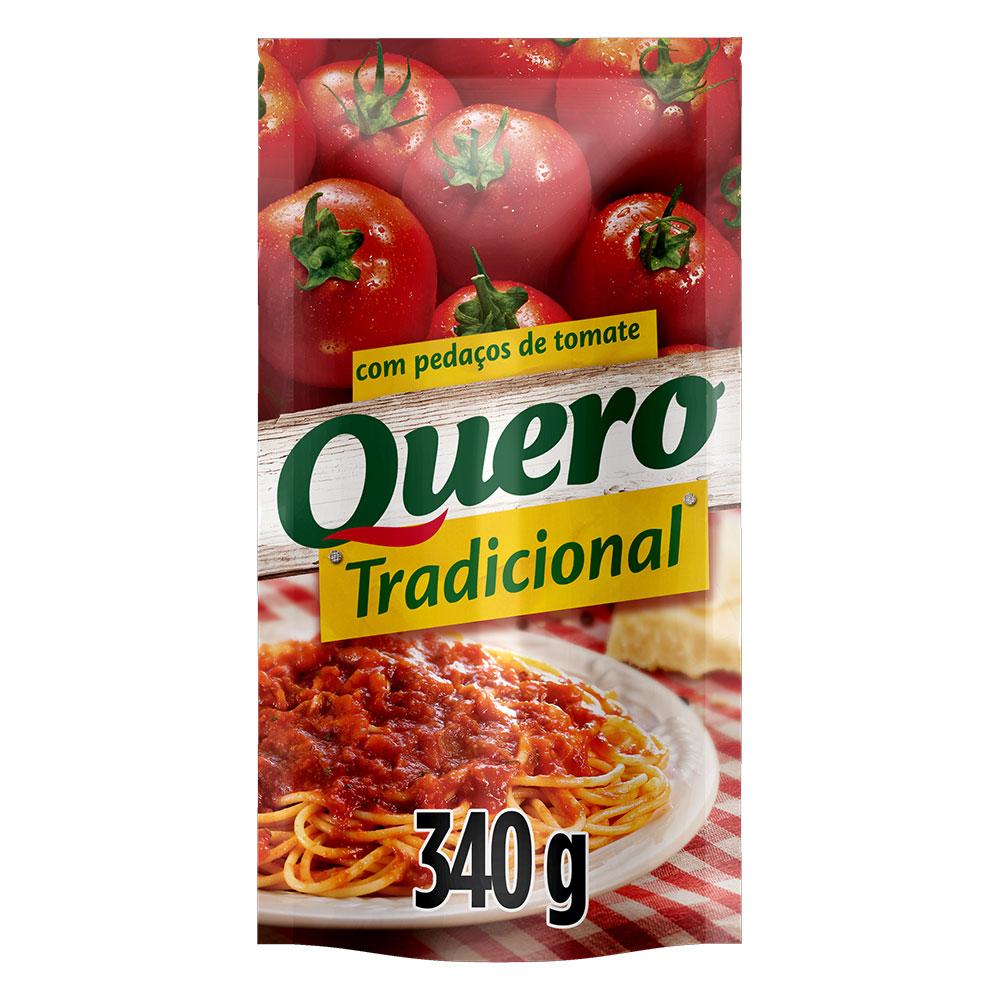 Kit c/ 12 Molho De Tomate Quero Tradicional 340g