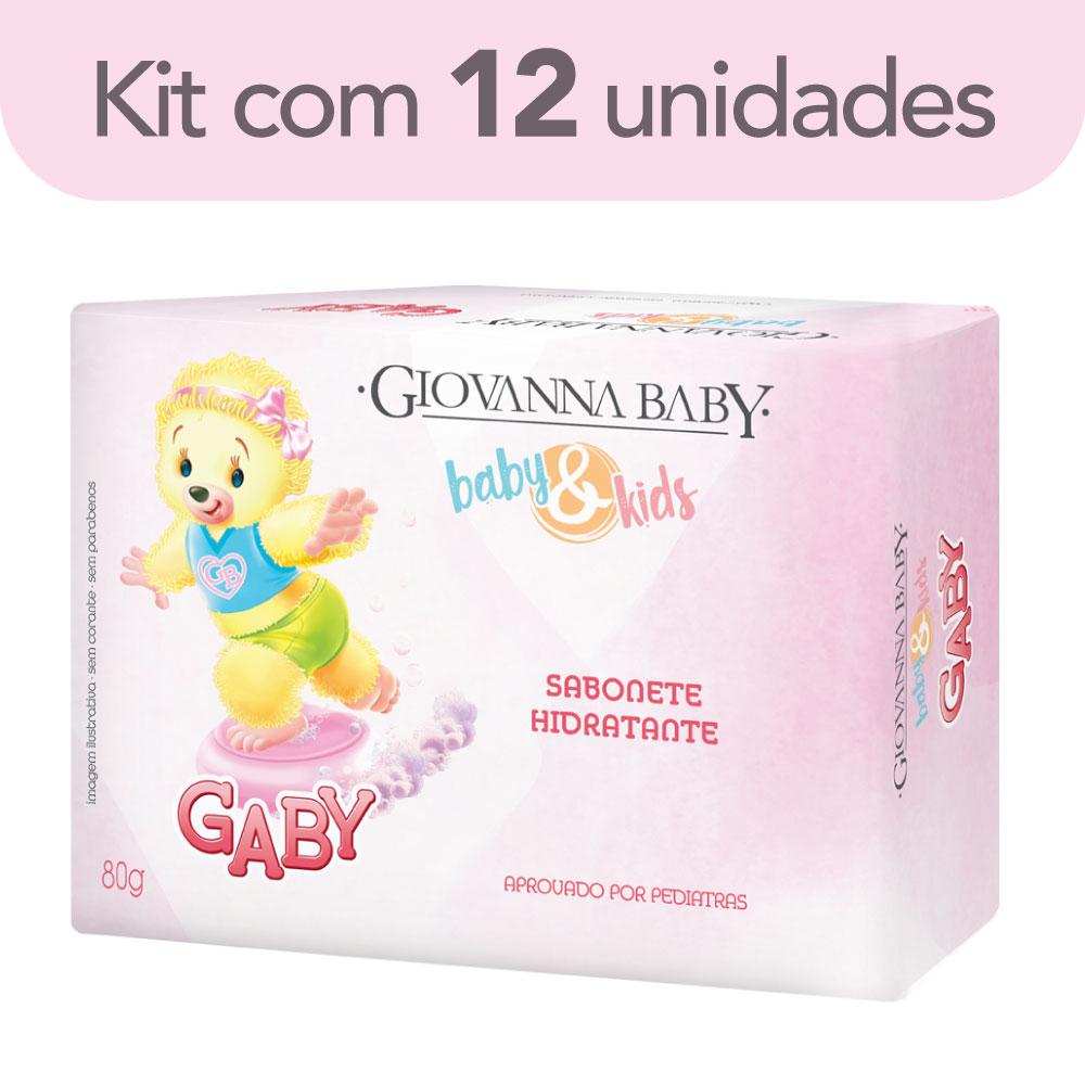 Kit c/ 12 Sabonete em Barra Baby e Kids Gaby Giovanna Baby 80g