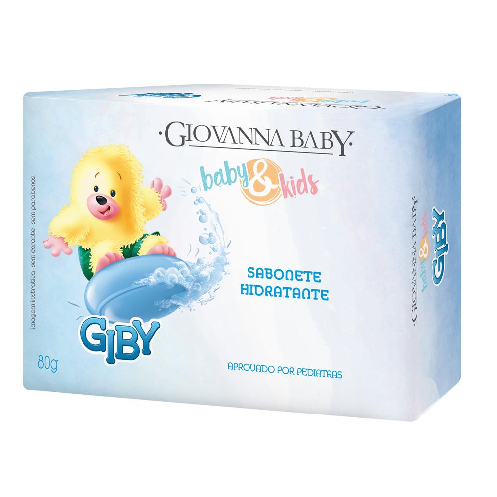Kit c/ 12 Sabonete em Barra Baby e Kids Giby Giovanna Baby 80g