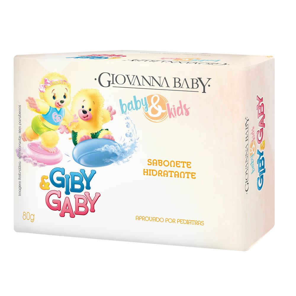 Kit c/ 12 Sabonete em Barra Unissex Baby e Kids Giovanna Baby 80g