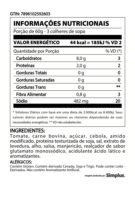 Kit c/ 18 Molho De Tomate Heinz Bolonhesa 340g