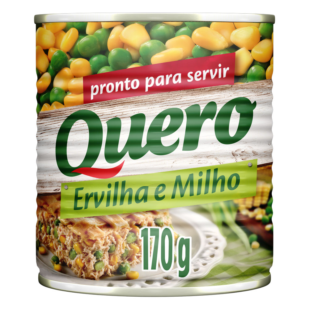 Kit c/ 24 Ervilha E Milho Quero Lata 170g