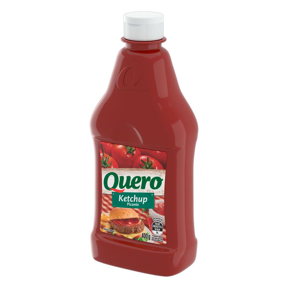 Kit c/ 24 Ketchup Quero Picante 400g