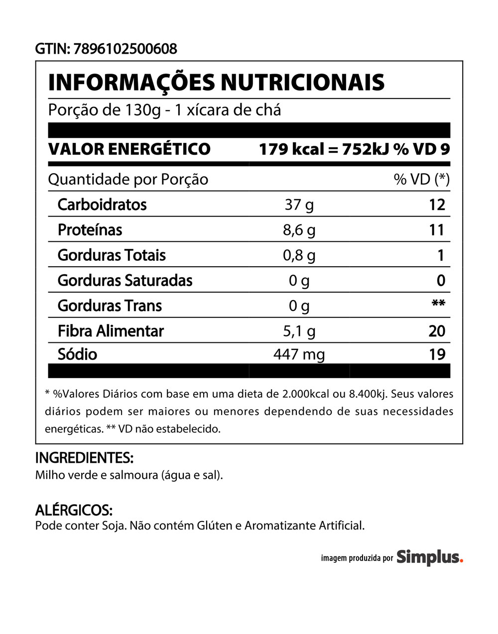 Kit c/ 24 Milho Verde Quero Lata 170g