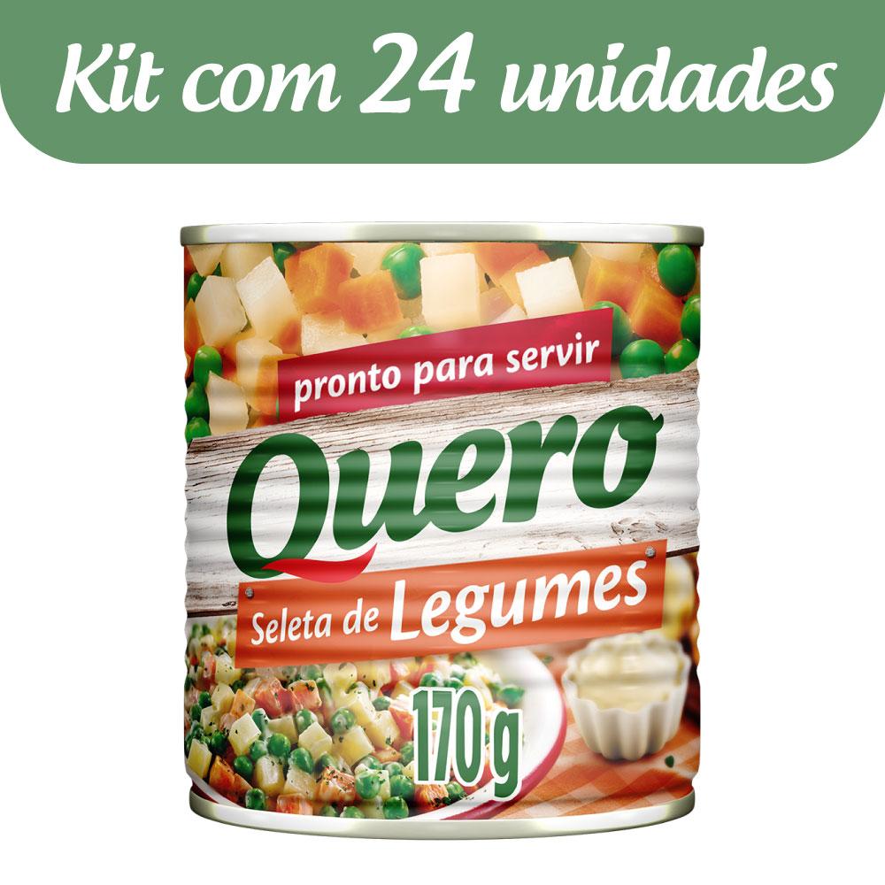 Kit c/ 24 Seleta De Legumes Quero Lata 170g