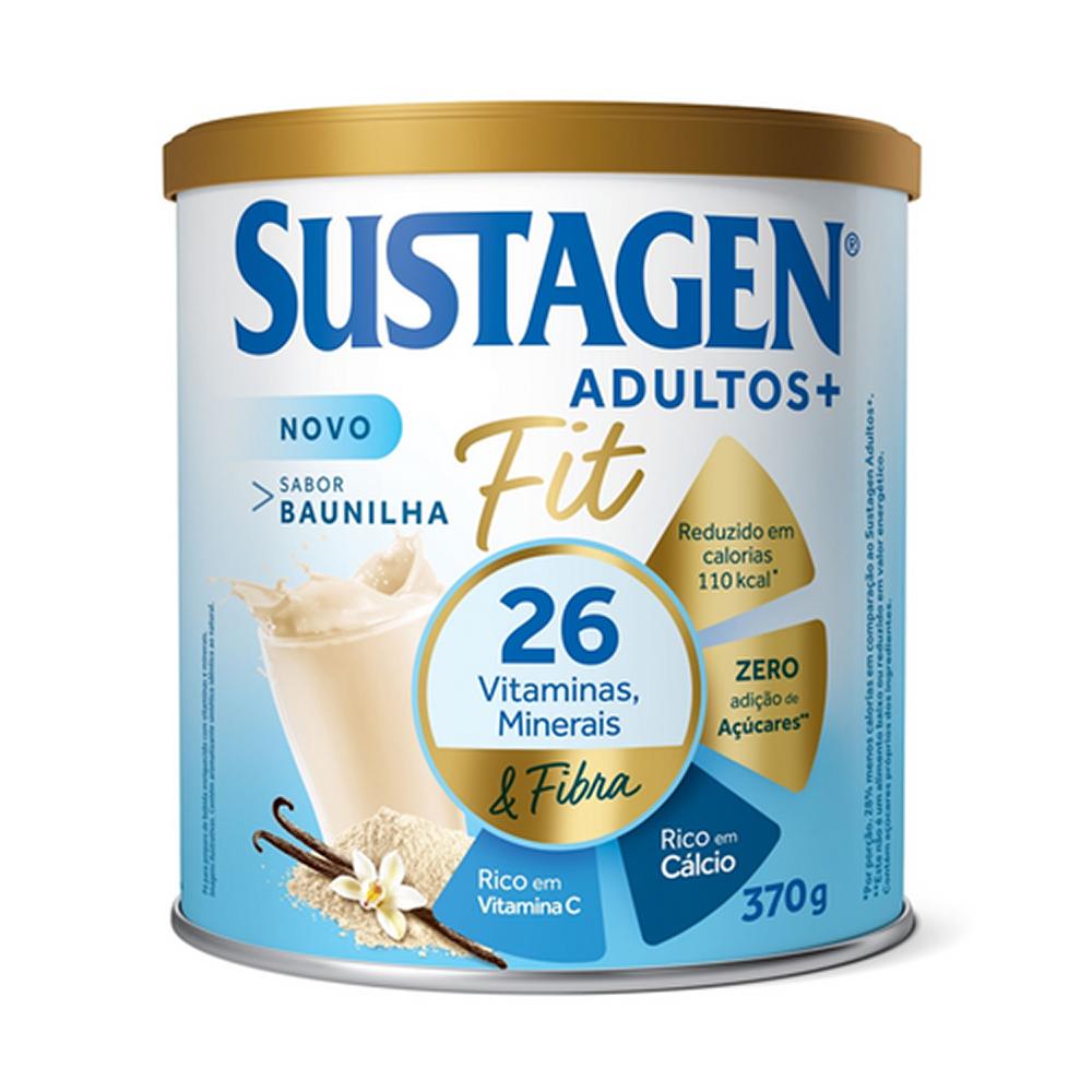 Kit c/ 3 Sustagen Fit Complemento Alimentar Baunilha 370g