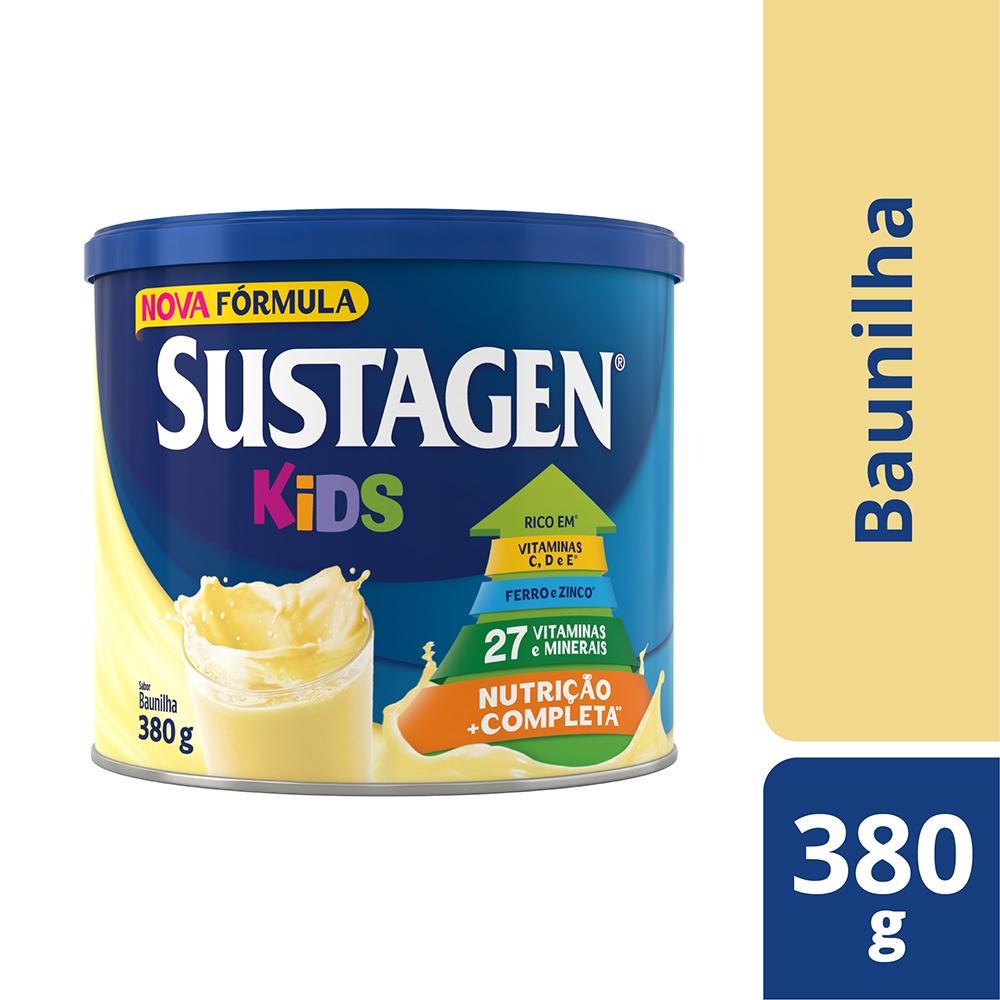 Kit c/ 3 Sustagen Kids 380g Baunilha