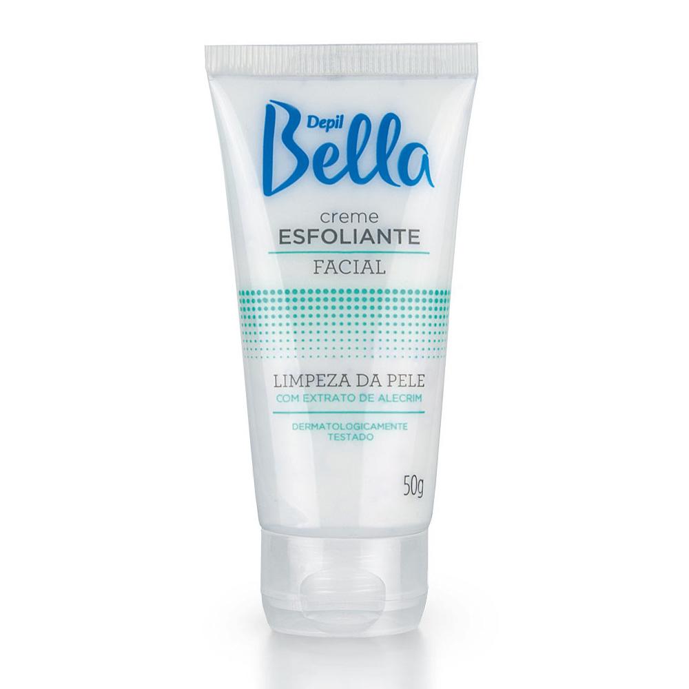 Kit c/ 4 Creme Esfoliante Facial de Alecrim Depil Bella 50g