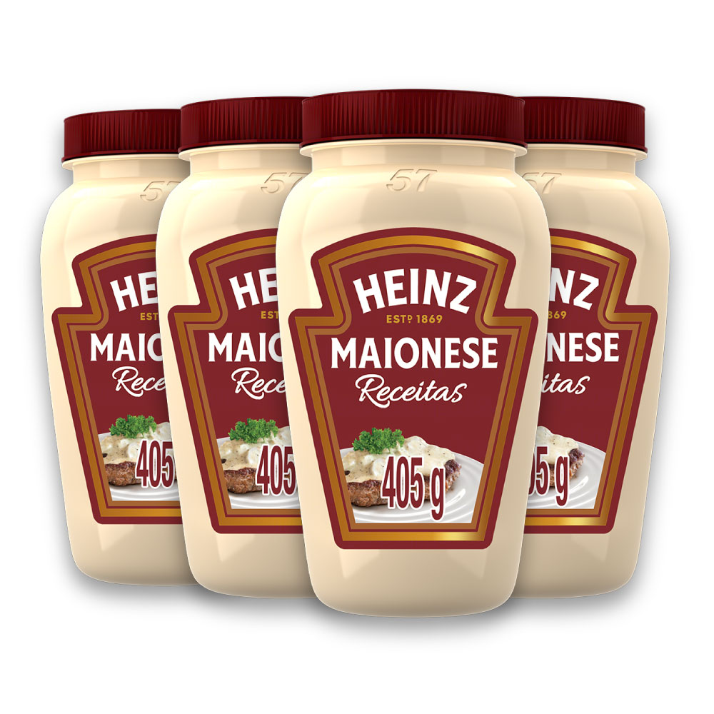 Kit c/ 4 Maionese Heinz Receitas 405g