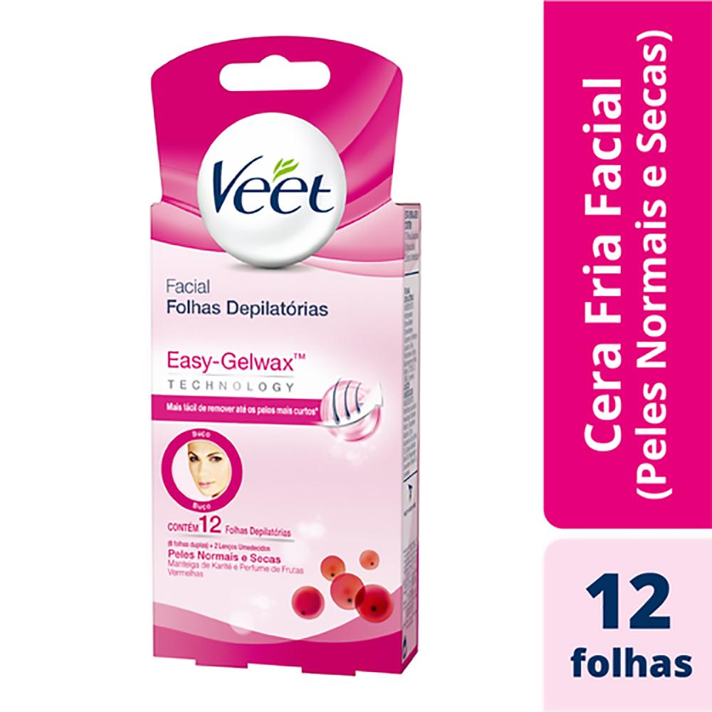 Kit c/ 6 Cera VEET Fria Peles Normais Facial 12 unidades