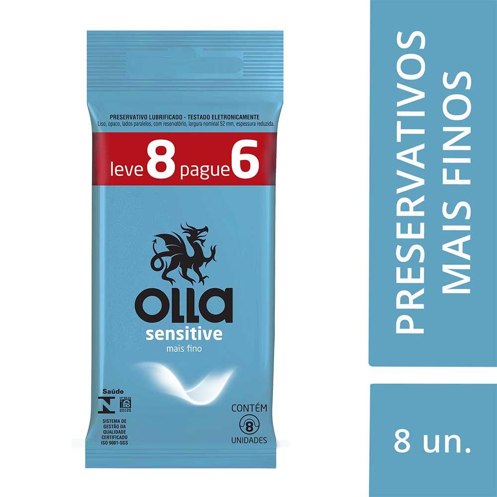 Kit c/ 6 Preservativo OLLA Lubrificado Sensitive Lv 8 Pg 6