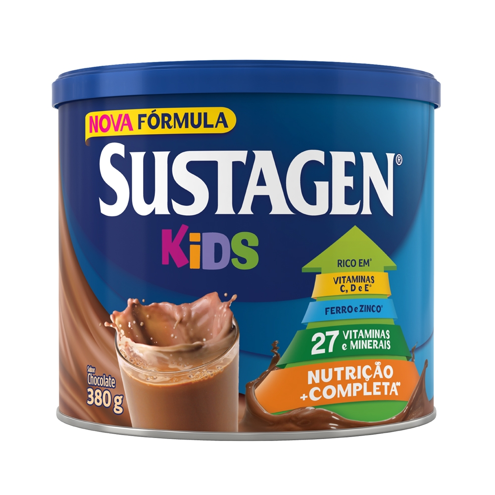Kit c/ 6 Sustagen Kids 380g Chocolate
