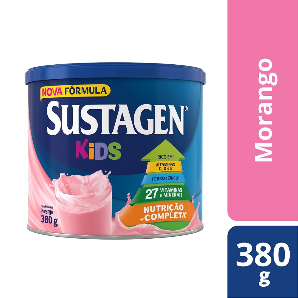 Kit c/ 6 Sustagen Kids 380g Morango