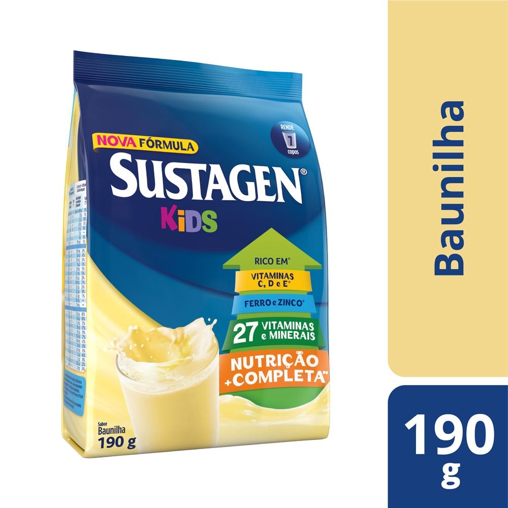 Kit c/ 6 Sustagen Kids Baunilha 190g