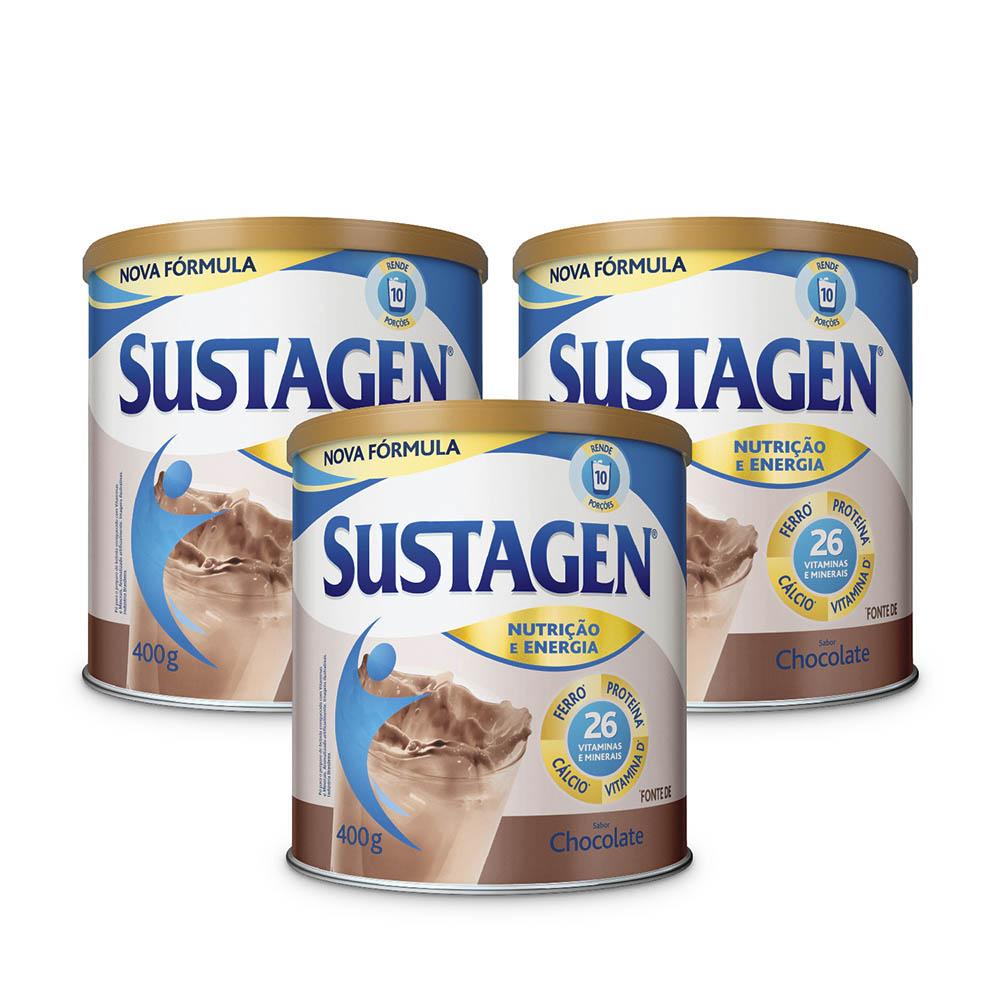 Kit c/ 6 Sustagen NE 400g Chocolate