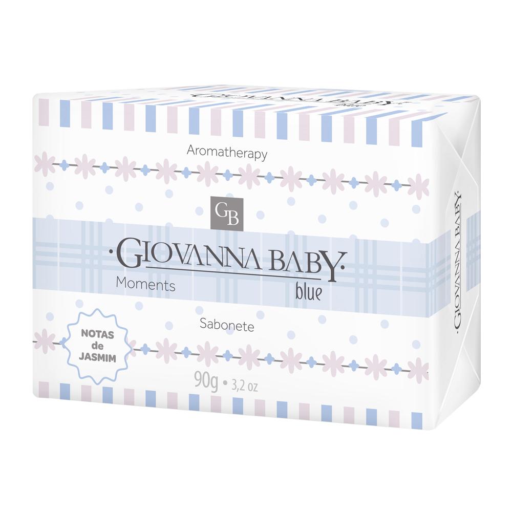 Kit c/ 8 Sabonete Retangular Blue Giovanna Baby Moments 90 g