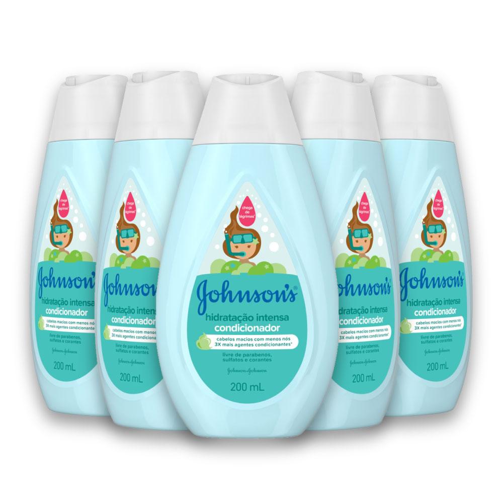Kit com 5 Condicionador JOHNSON?S Baby Hidratação Intensa 200ml