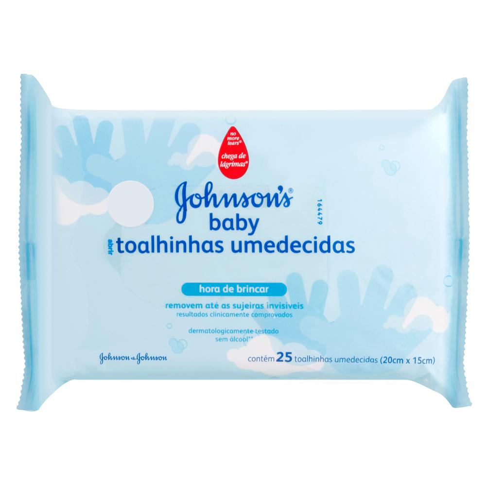 Lenços Umedecidos JOHNSON'S Baby Hora de Brincar 25 unidades - CX c/ 12