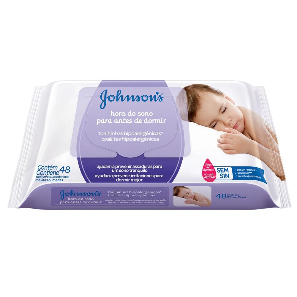Lenços Umedecidos JOHNSON'S Baby Hora do Sono 48 unidades - CX c/ 24