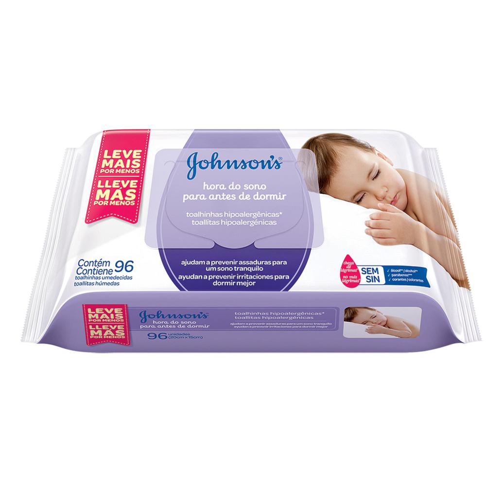 Lenços Umedecidos JOHNSON'S Baby Hora do Sono 96 unidades - CX c/ 12