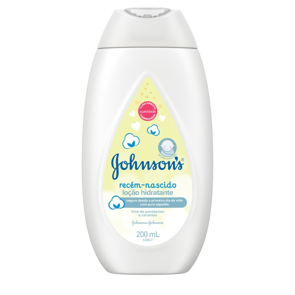 Loção Hidratante JOHNSON'S Baby Recém-Nascido 200 ml - CX c/ 12