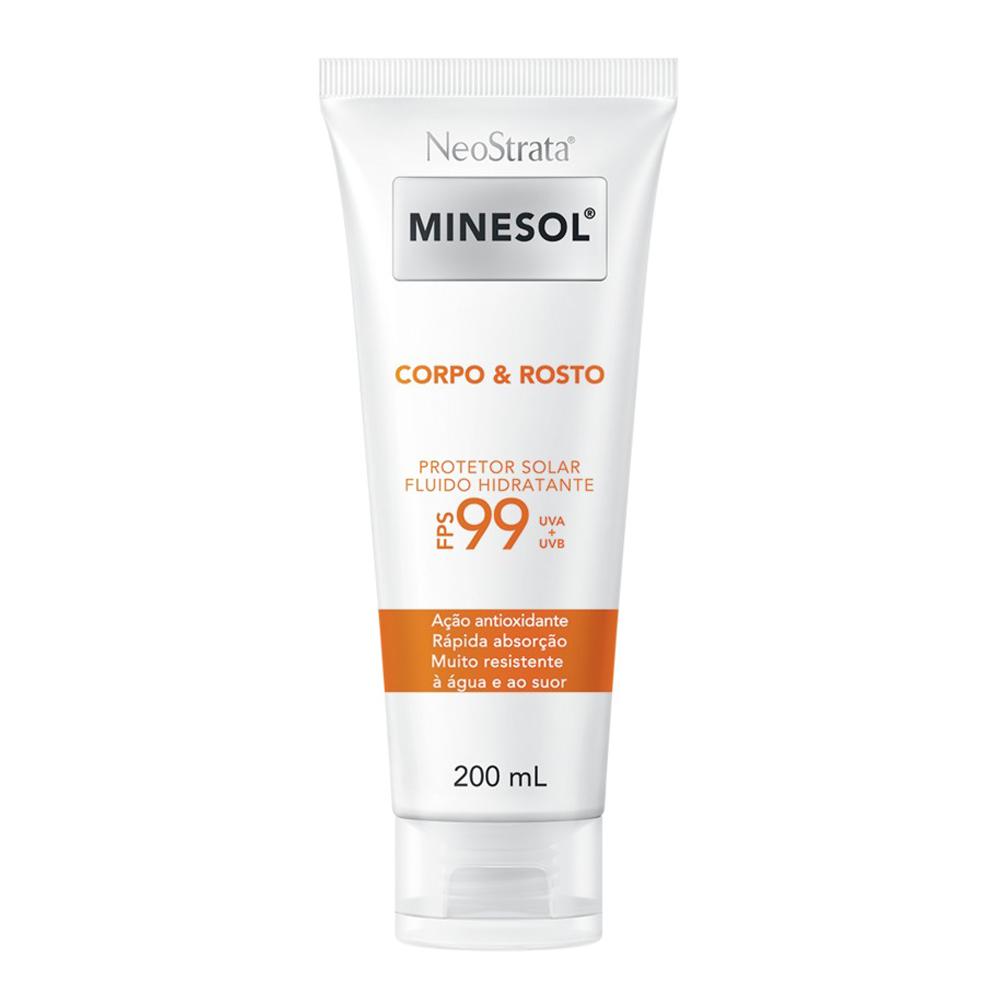 Neostrata Minesol Corpo e Rosto Protetor Solar Fluido Hidratante Antioxidante FPS99 200ml - CX c/ 6