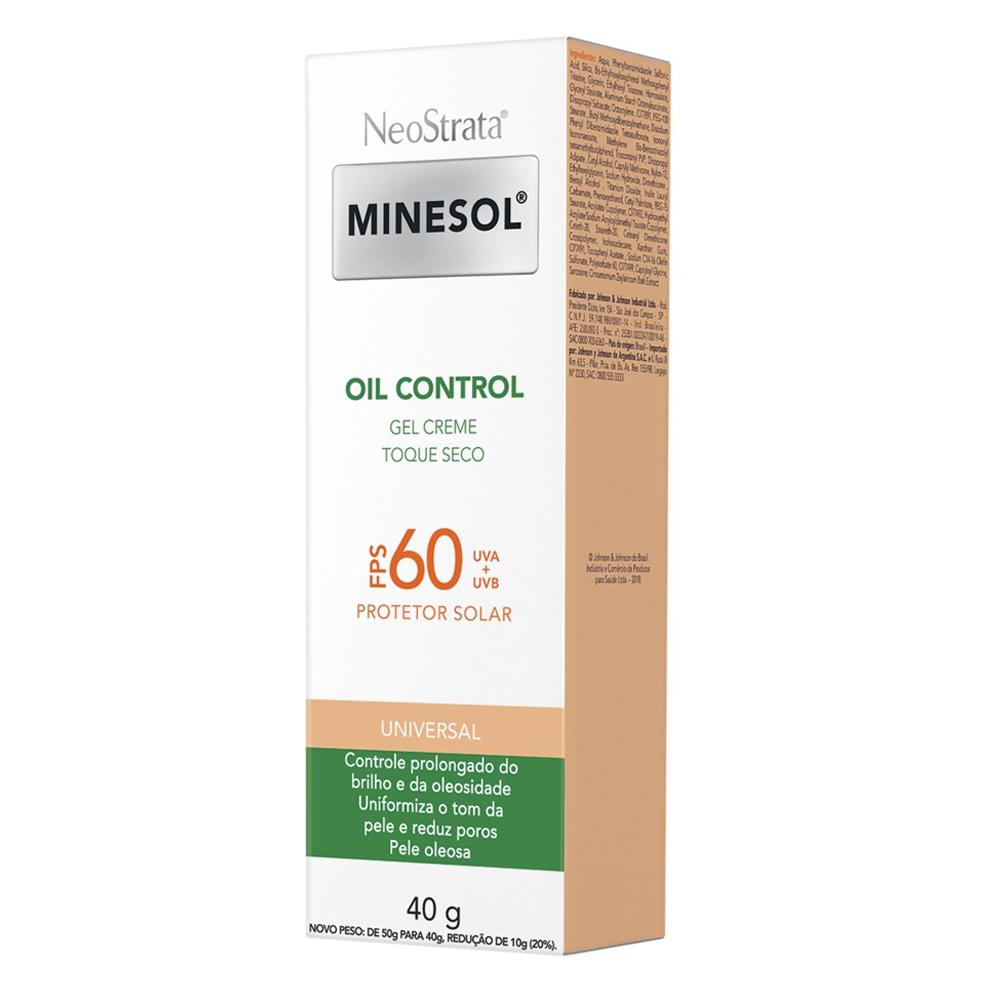 Neostrata Minesol Oil Control Fluido com cor FPS 60 40g - CX c/ 6