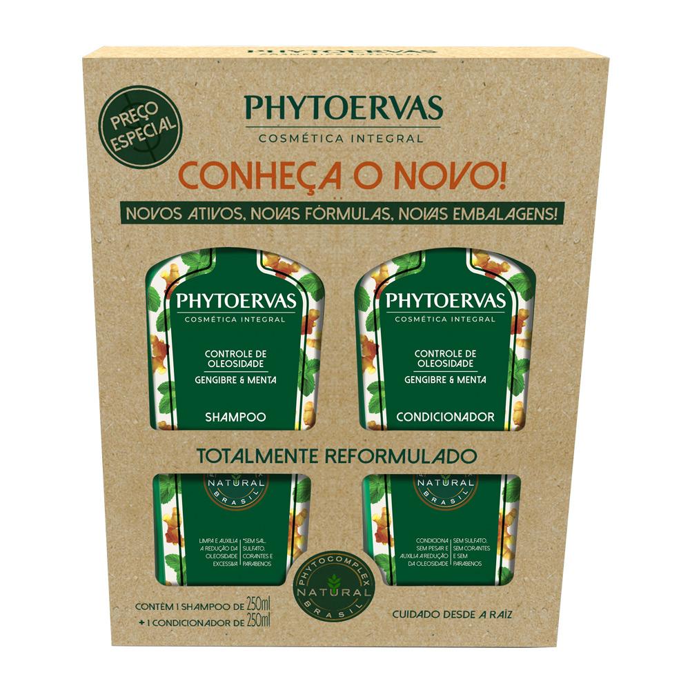 Phytoervas Controle Da Oleosidade Shampoo + Condicionador 250ml - CX c/ 6