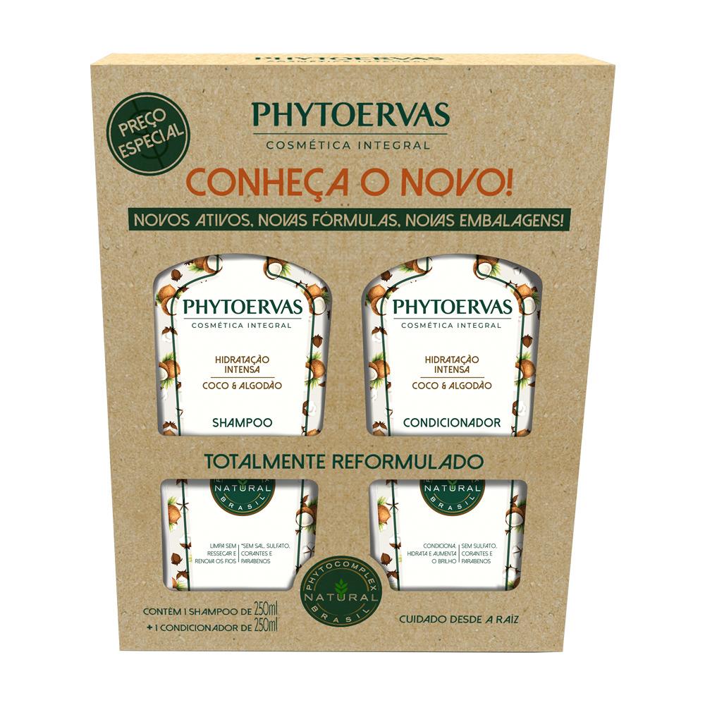Phytoervas Hidratação Intensa Shampoo + Condicionador 250ml - CX c/ 6