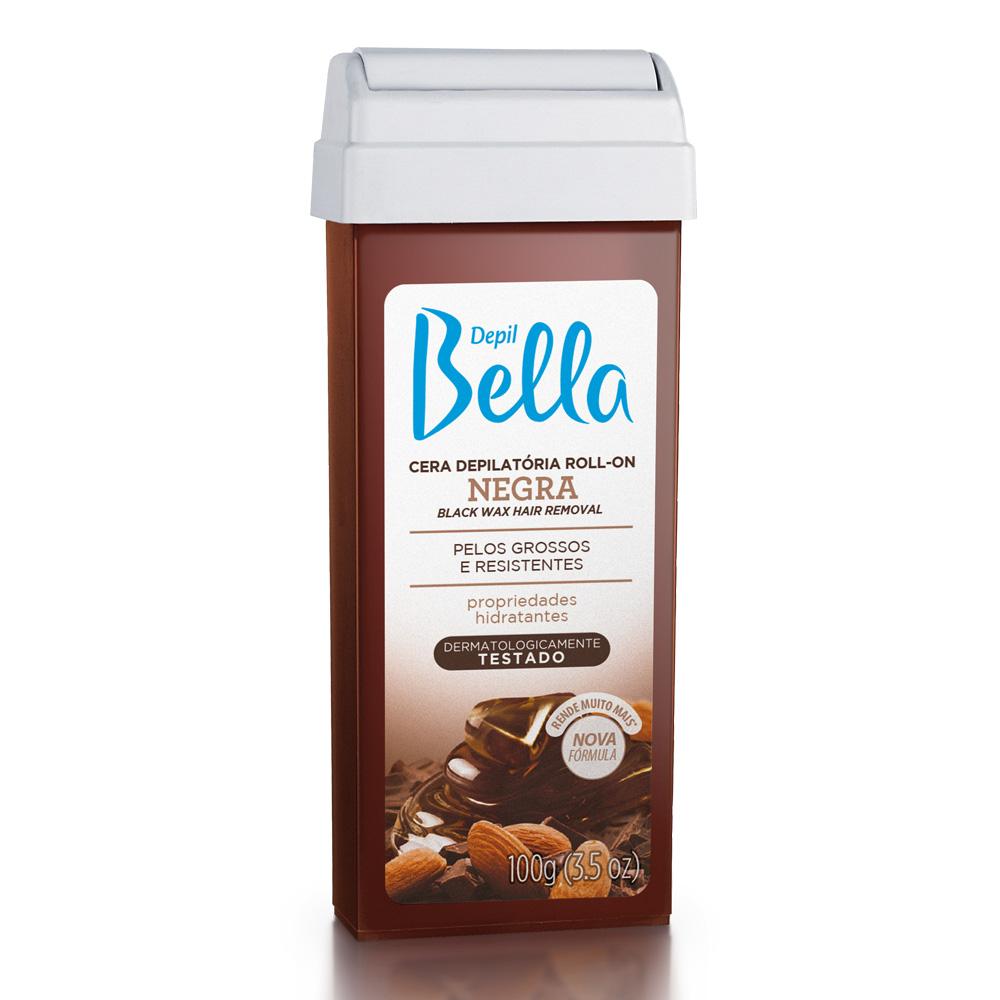 Refil Cera Depilatória Roll-On Depil Bella Negra Deo 100g - CX c/ 24