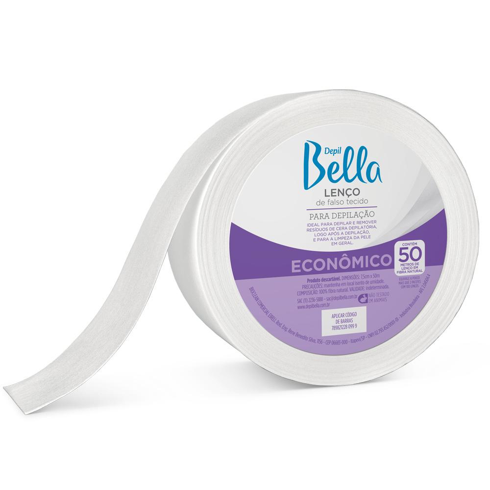 Rolo Lenço TNT Depilatório Depil Bella 50m - CX c/ 6
